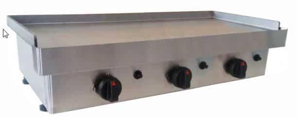 Plancha de cocina industrial a gas butano